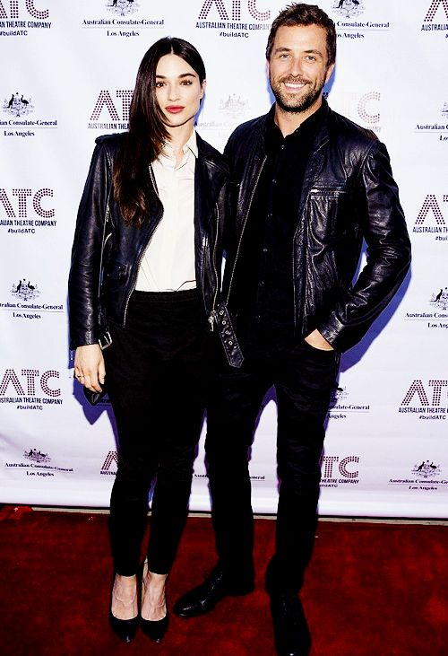 Crystal Reed and Darren McMullen arrive at The Matrix Theater in West Hollywood for the opening Night of Ruben Guthrie.