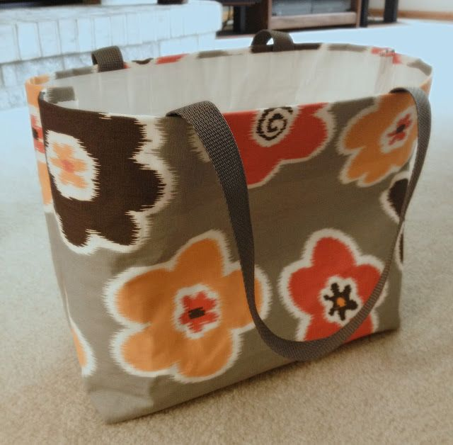 No-Sew Tote Bag | Pretty Little Things- lined with duct tape. made with staples
