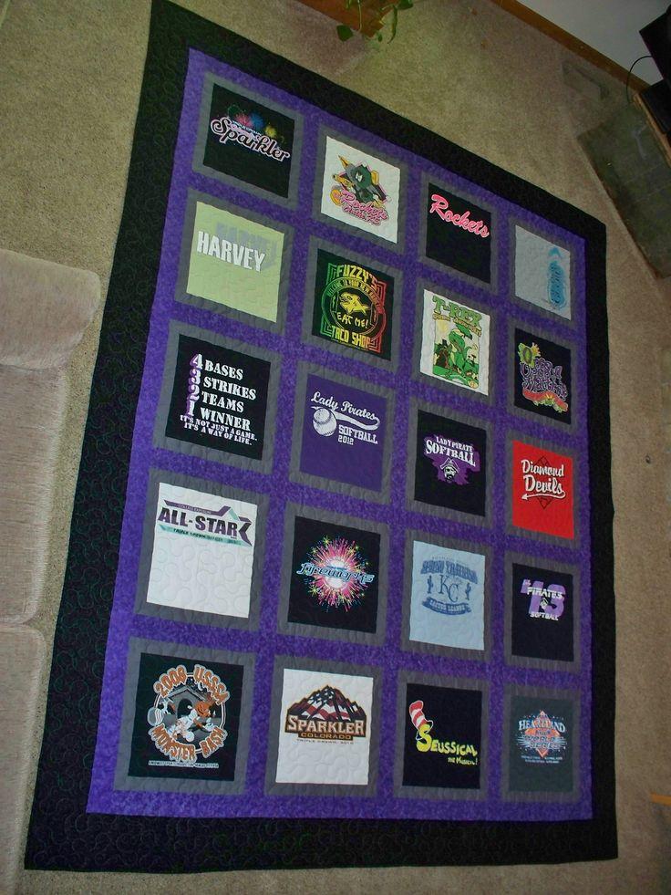 56 Best T Shirt Quilt Ideas Images On Pinterest Macs