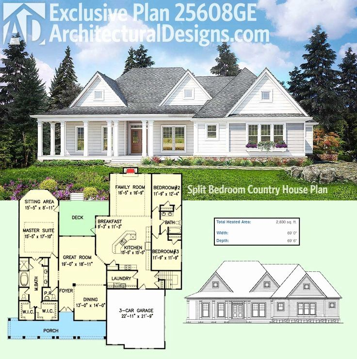 Image result for white modern farmhouse rambler House