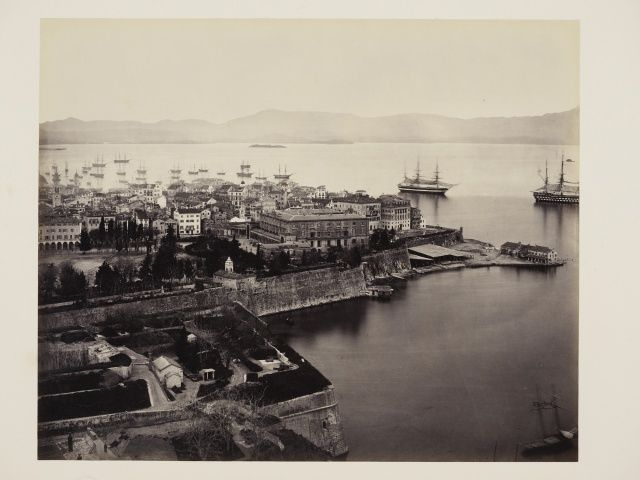 Corfu from the Citadel  24 Feb 1862 Francis Bedford (1815-94. Acquired by the Prince of Wales, 1862 )