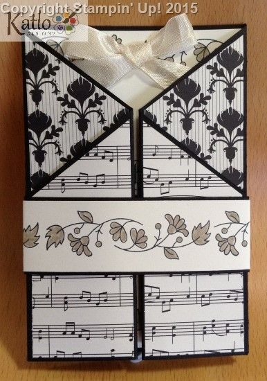 Angled Gate Fold card - Stampin' Up! Modern Medley Designer Series Paper and Bordering Blooms Stamp set