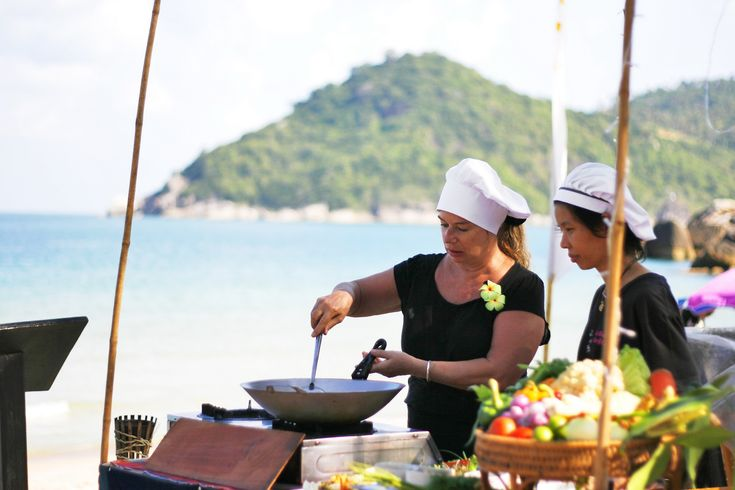 Watch the Chef Cooking on the Beach