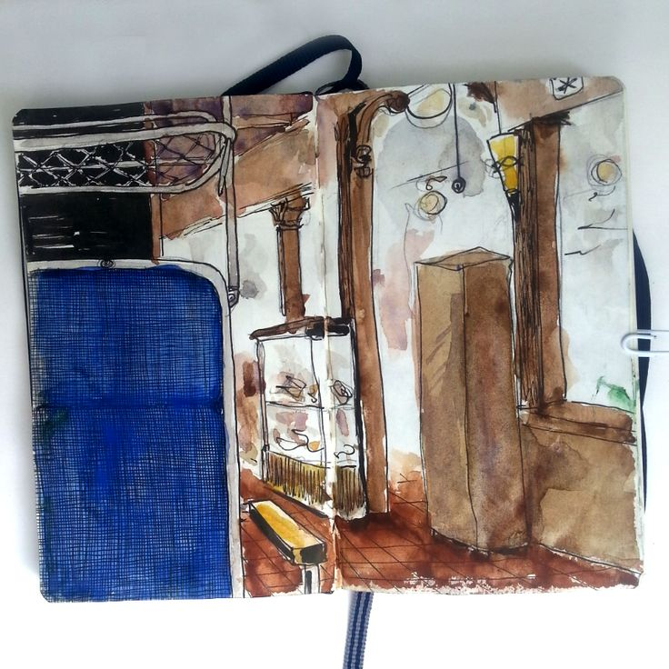 From sketchbook of Petri Fills #sketchbook #drawing #Turku