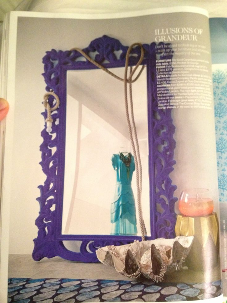 Yes, that is a full length flocked purple mirror, and yes, that makes up for the crappy photo quality.