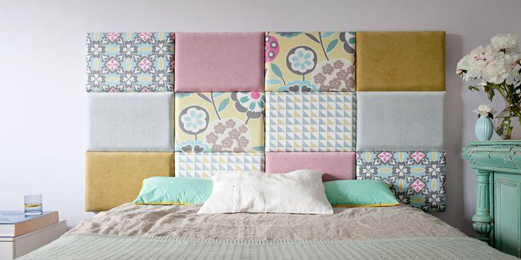 Modułowy zagłówek tapicerowany do łóżka, wezgłowie, panele tapicerowane - Made For Bed
