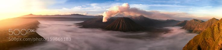 Mount Bromo Panorama by hadfimarton via http://ift.tt/28O2FdG