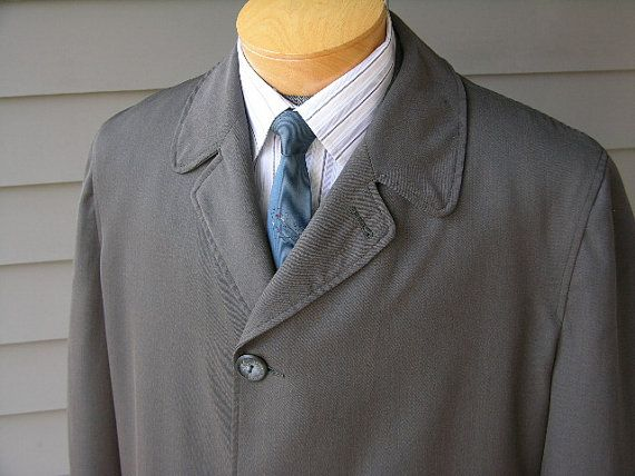 vintage 1950's Men's Top coat. Wool blend gabardine by StyleStash, $148.00