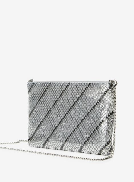 Womens Silver And Pewter Chainmail Clutch Pewterclutchpurse