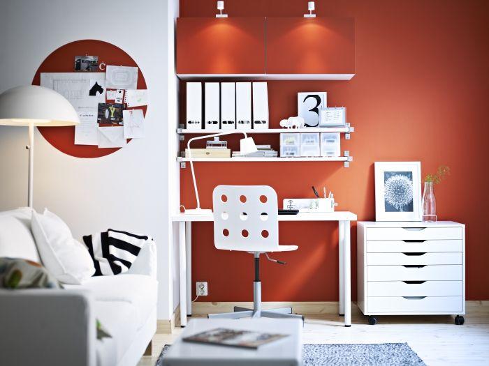 25 beste idee n over kleine ruimte kantoor op pinterest for Ladenblok ikea