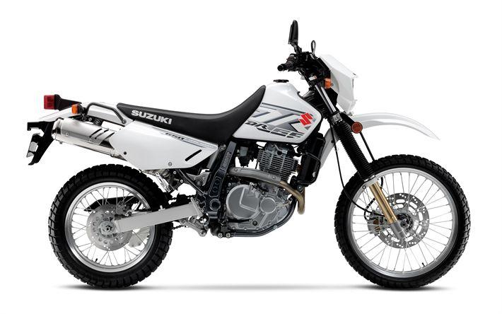 Descargar fondos de pantalla SUZUKI DR650S, 2018, la cruz de la motocicleta, motocicletas nuevas, SUZUKI