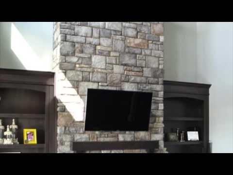 Interior design inspiration from Kodiak Mountain Stone. | #fireplace #featurewall #kitchen #bathroom