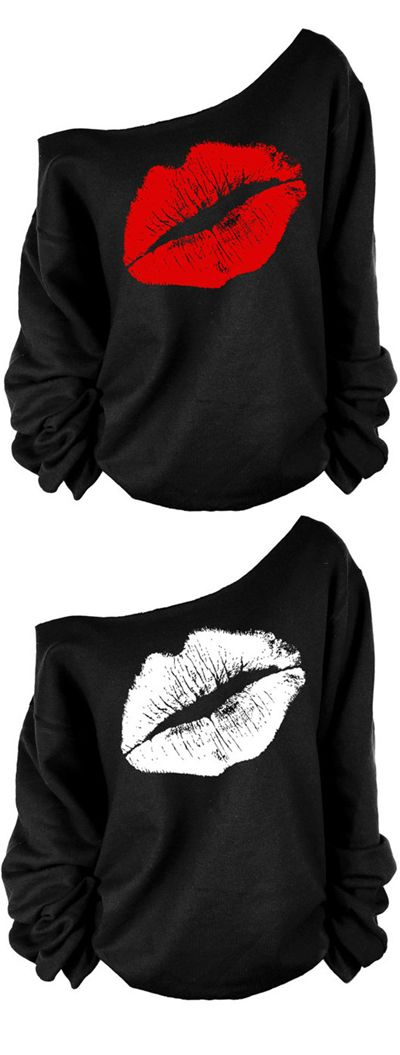 Kiss Me Beautiful is the name of the game with this sexy pullover shoulder sweatshirt. These sweatshirts come in sizes S-XL and they are available in two different styles. The best part? You can save 20% off your order with the code PIN20!