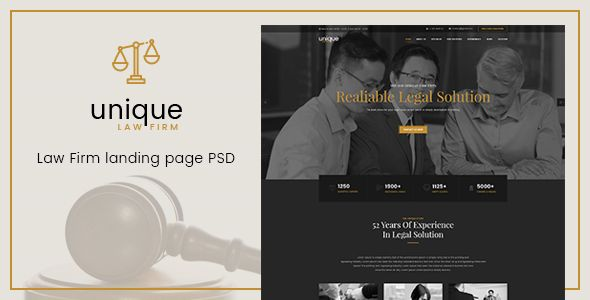 Unique - Law Firm Landing Page PSD Template - Business Corporate Download here : https://themeforest.net/item/unique-law-firm-landing-page-psd-template/19823449?s_rank=139&ref=Al-fatih #psd template #web design #web responsive #psd #blog #business #flat #design #personal #shop #health #trend #technology
