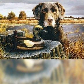 The Veterans Chocolate Labrador Lab Dog Duck Hunting Decoy Wall Decor Animal Picture Art Print by Larry Chandler Art, http://www.amazon.com/dp/B00AW3HNCI/ref=cm_sw_r_pi_dp_-Wgirb0V6NFQ0