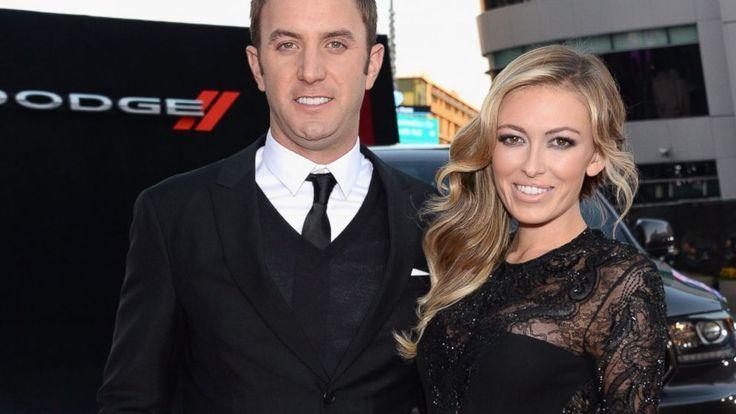 : Pro golfer Dustin Johnson and model Paulina Gretzky attend the ...