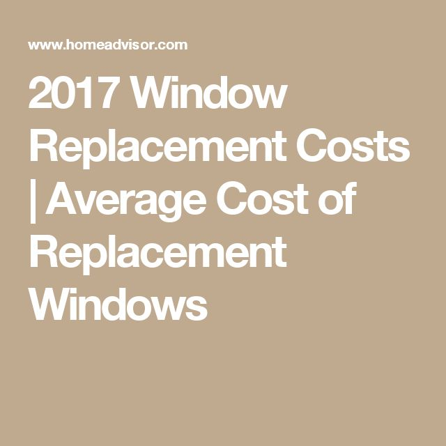 2017 Window Replacement Costs | Average Cost of Replacement Windows