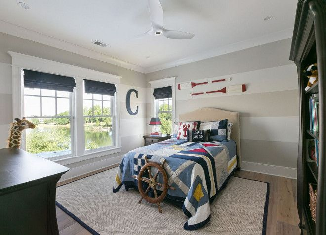 Large Wall Stripes Bedroom With Painted On Walls Paint