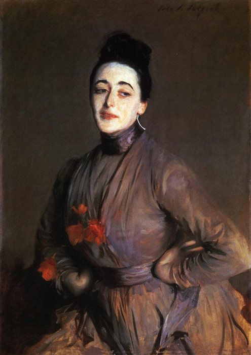 Sargent Paintings-Flora Priestley , 1889.perfectly made up