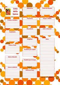 Oppure utilizzare questa pratica Lista della Spesa (divisa in reparti) da aggiornare ...ricordate poi di portarla con voi al supermercato!
