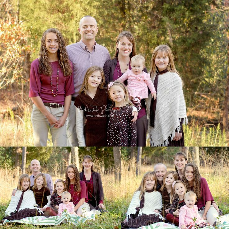 large family of 7! 5 sisters {charlotte family photographer}