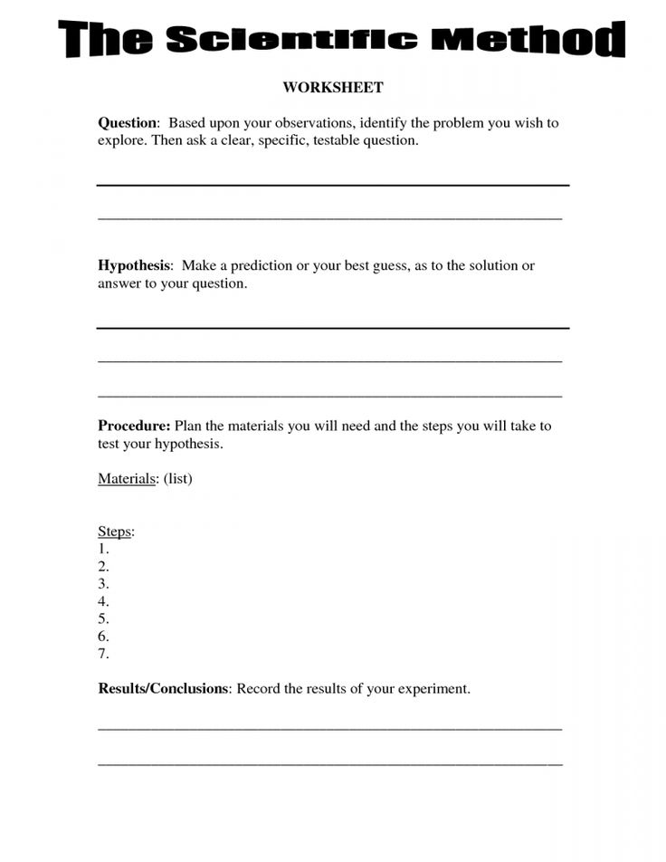 8+ Fourth Grade Science Experiment Worksheet - - Check ...