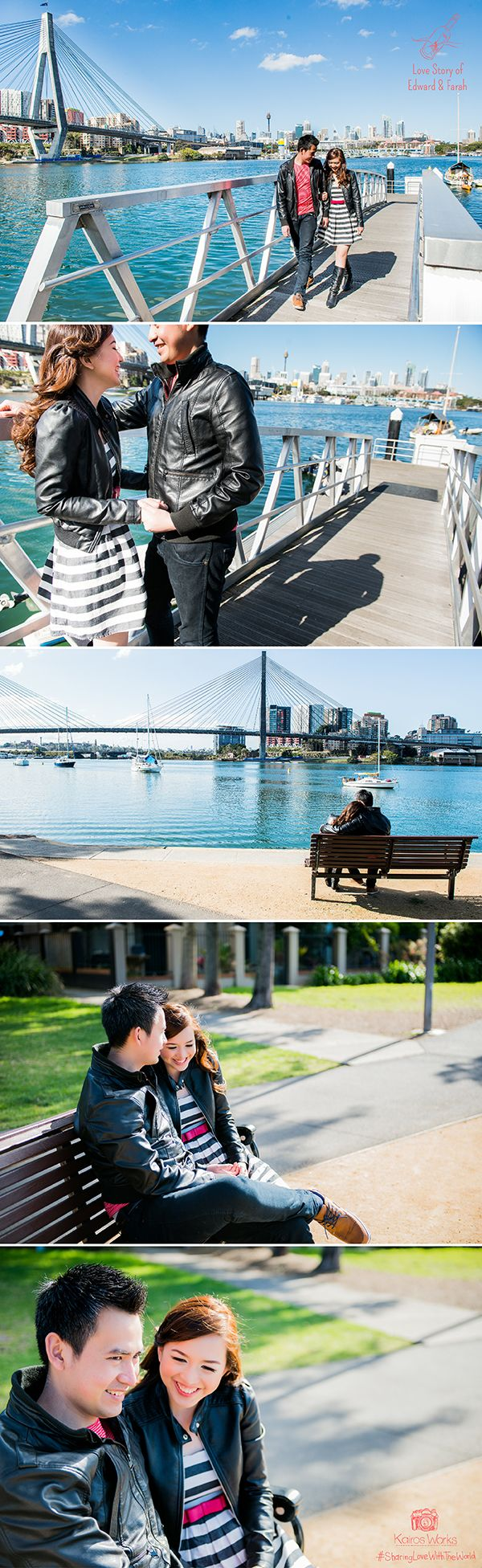 They chose to have the photo session in Sydney, the city where they met each other for the first time. She already has a specific list of the places in Sydney, from Milsons Point to Blackwattle bay and several other places. Each of 'em has special meanings in their hearts. When Artha asked, 'Who chose all this places?' of course they answered, 'We did!' at the exact same time.#SharingLoveWithTheWorld