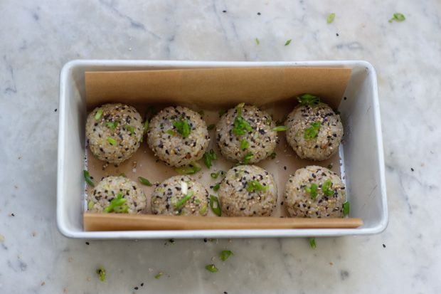 Almost Sushi balls!! Great lunch idea.