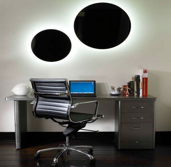 stylish contemporary lighting design becoming dazzling decor terrific masculine style home office with grey computer