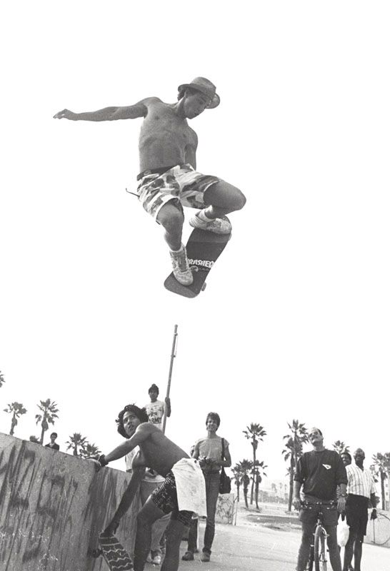 Venice beach. Hosoi looking on someone, maybe Scott Oster.