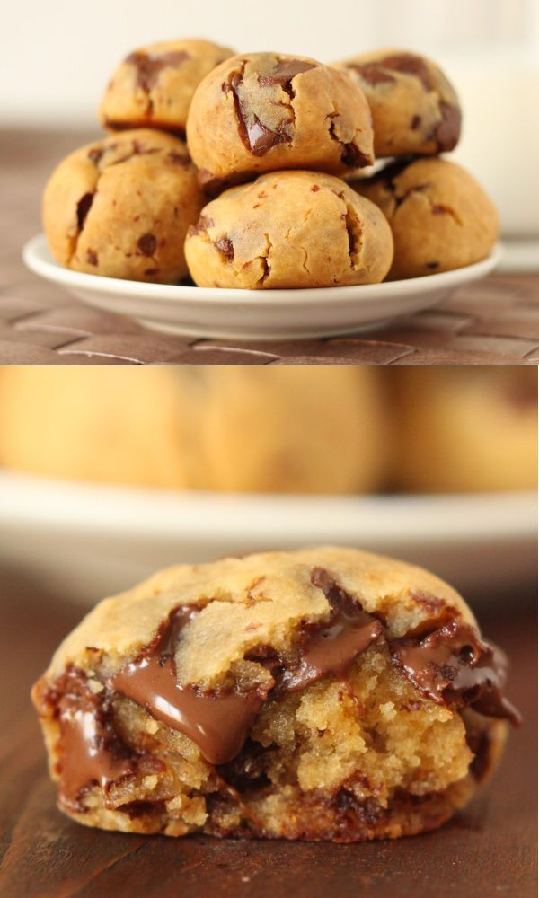 grain-free peanut butter chocolate chip cookie dough bites made with chickpeas. These are pretty good. Hubby says I have to make them again. Like eating really soft cookie dough-Amy