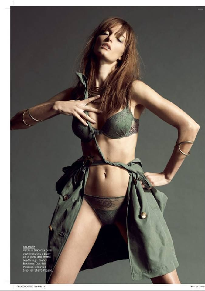 Can you see my olive-brown trench on the beautiful #editorial? This month on Intimo più Mare magazine!