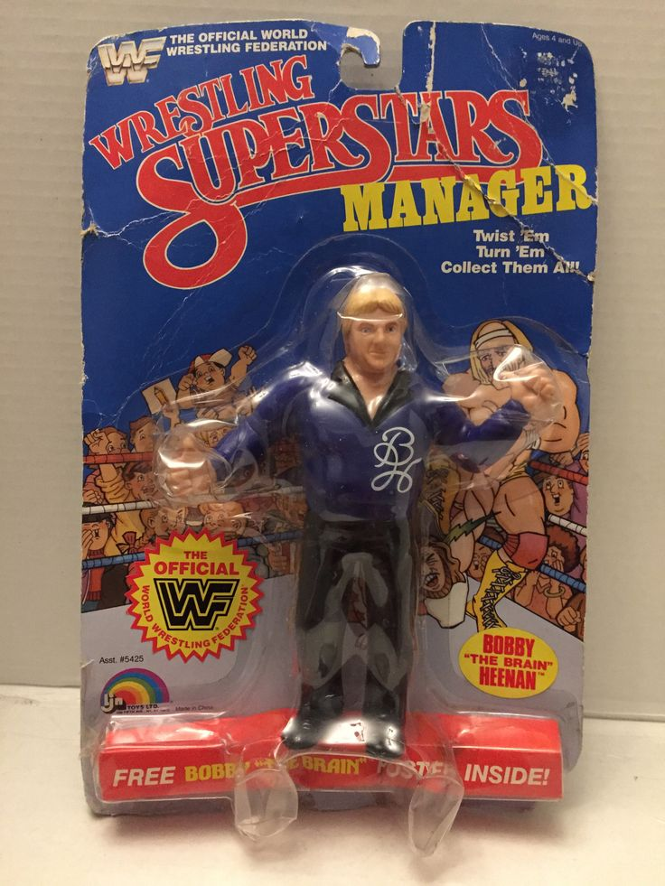 (TAS012956) - 1985 Titan Sports WWF Wrestling Superstars LJN - Bobby Heenan