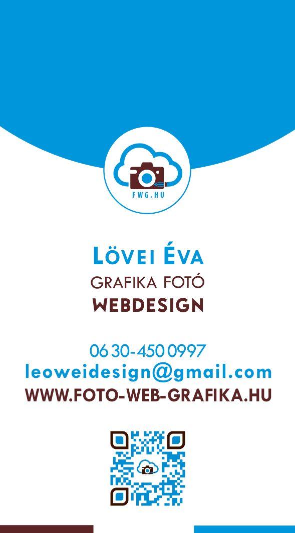 Fotó Web Grafika » Névjegy  variációk – egyoldalas