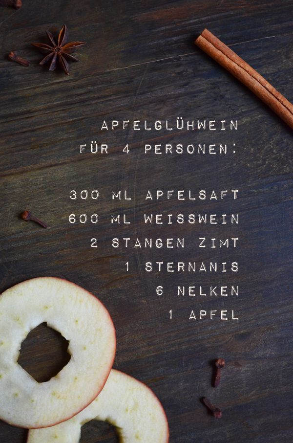 Rezept für Apfelglühwein (mit einem Schuss Calva…