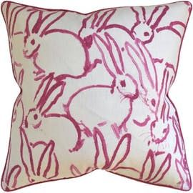 Hunt Slonem Throw Pillows  Rustic  Folk, Transitional, Upholstery  Fabric, Pillow by English Country Home