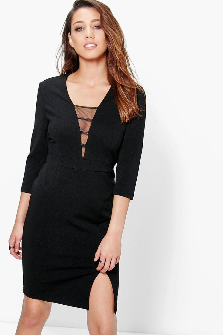 Tilly Strappy Plunge Bodycon Dress