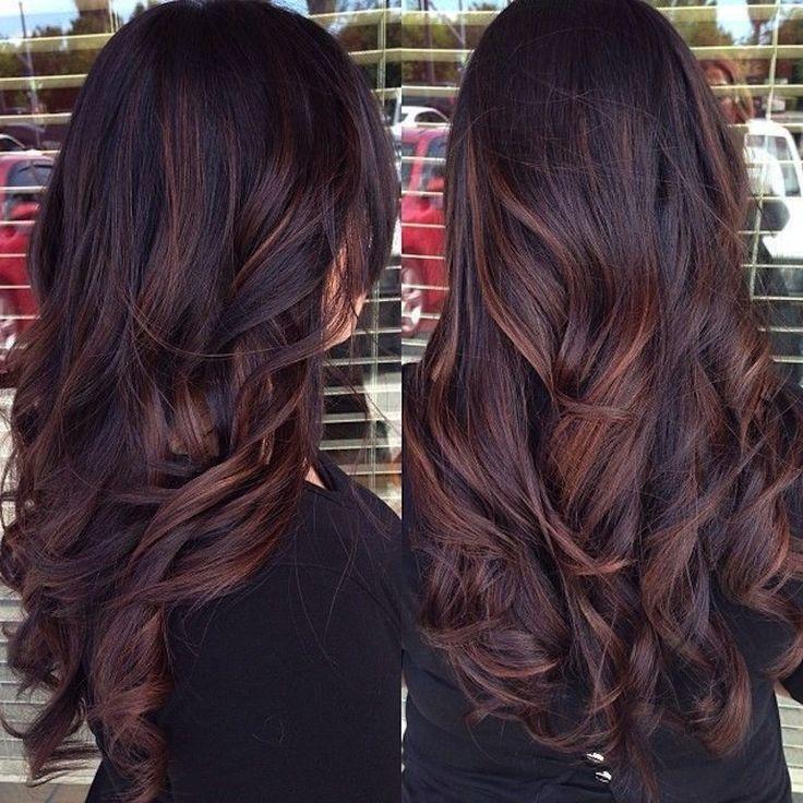 Креативное окрашивание темных длинных волос