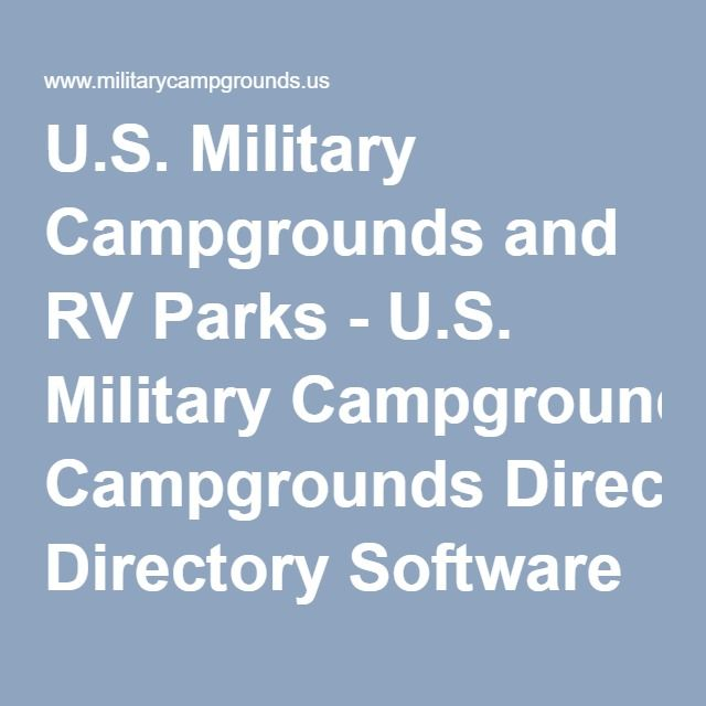 Best Cabins And Campgrounds Images On Pinterest Cabins - Us military campgrounds and rv parks map