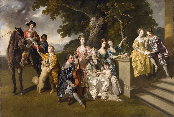 """The Family of Sir William Young"", c. 1767-69), by Johann Zoffany (1733-1810)."