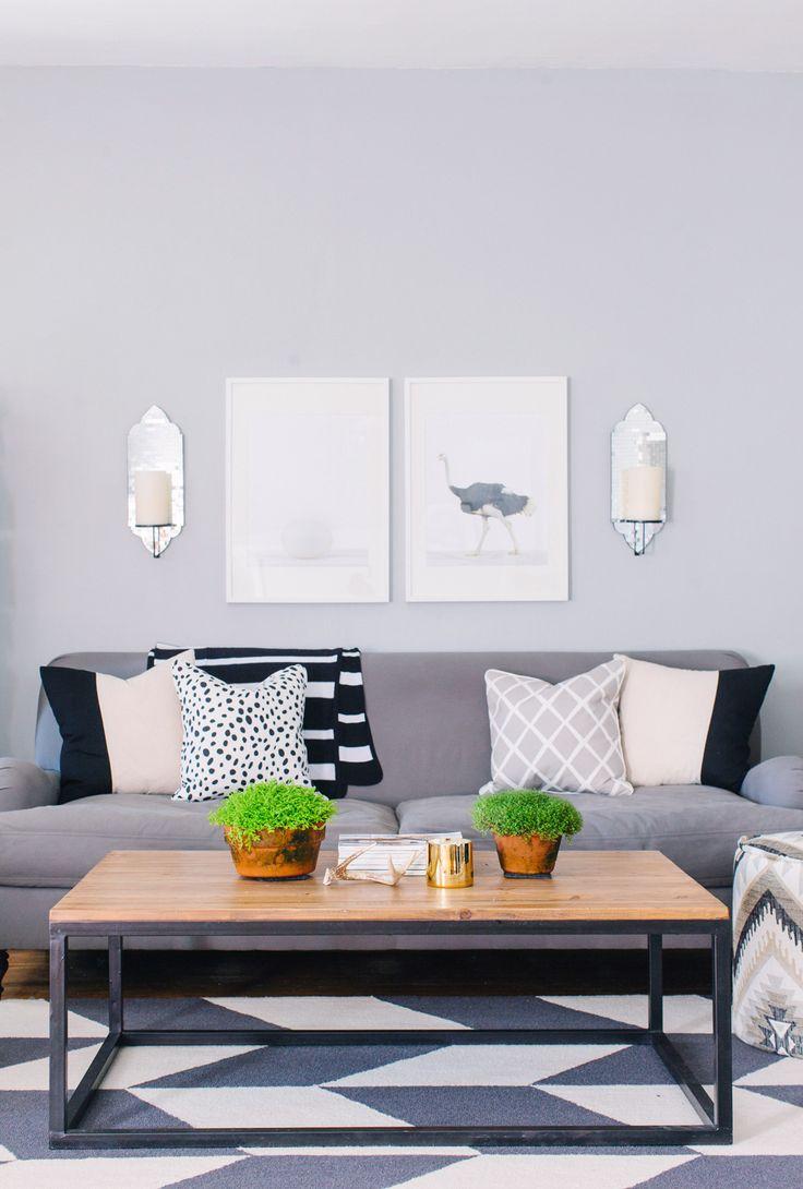 living room // greys + neutrals