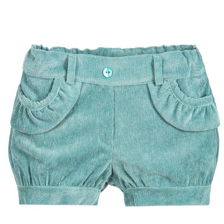 Dr. Kid Girls Green Corduroy Shorts at Childrensalon.com