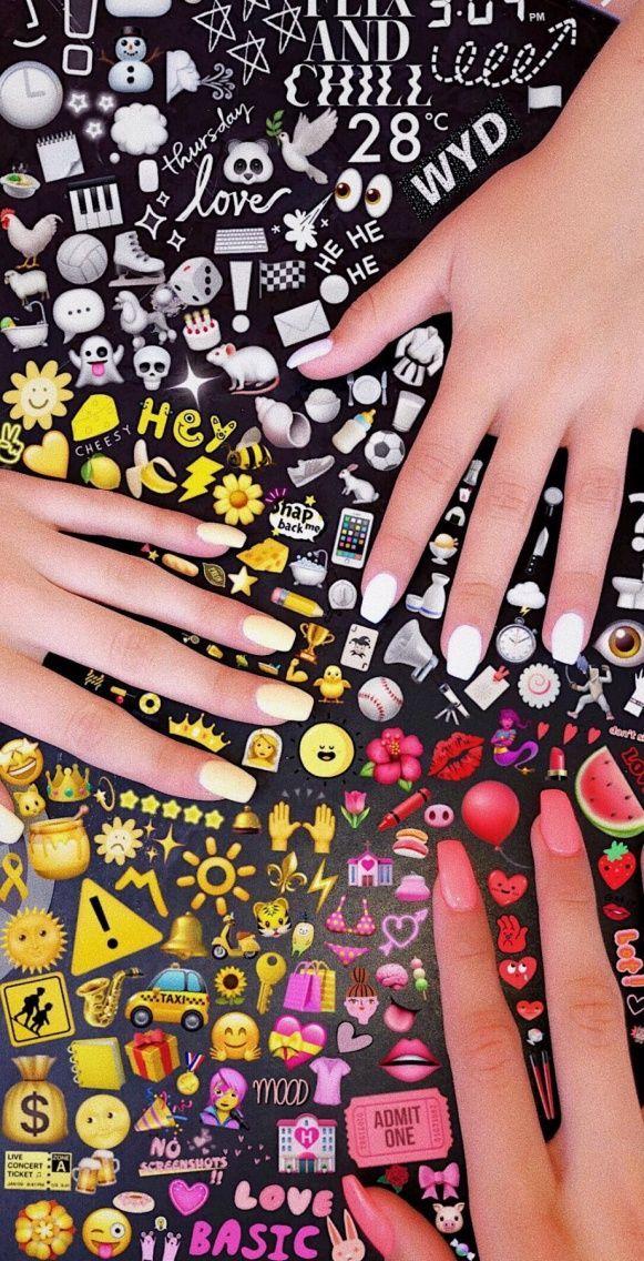 VSCO vxdb snapchat VSCO vxdb Emoji art, Cute nails