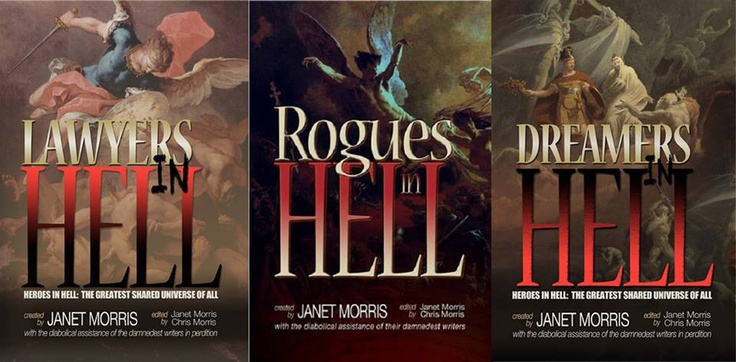 The three new Heroes in Hell Anthologies as one picture.