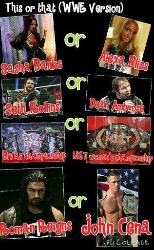 Sasha Banks, Dean Ambrose, NXT Women's Championship, and Roman Reigns