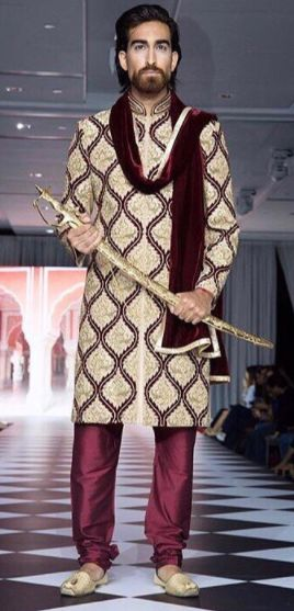 We love this shot taken at the Must Be Kismet Wedding show @mustbekismet_official of our model rocking this regal #Wellgroomedinc designed sherwani! . Our grooms are on the top of our priority list and we like to ensure not only that they are getting a piece that fits their personal style but also is extremely comfortable to wear! All of our pieces can be customized to meet your personal style (fit, colour, fabric etc) Email us at sales@wellgroomed.ca to set up a consultation.
