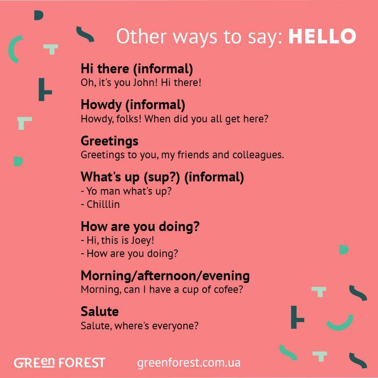 Synonyms to the word HELLO. Other ways to say HELLO. Синонимы к английскому слову HELLO.