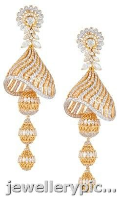 Diamond buttalu/ jhumka designs from ORRA jewellers - Latest Jewellery Designs