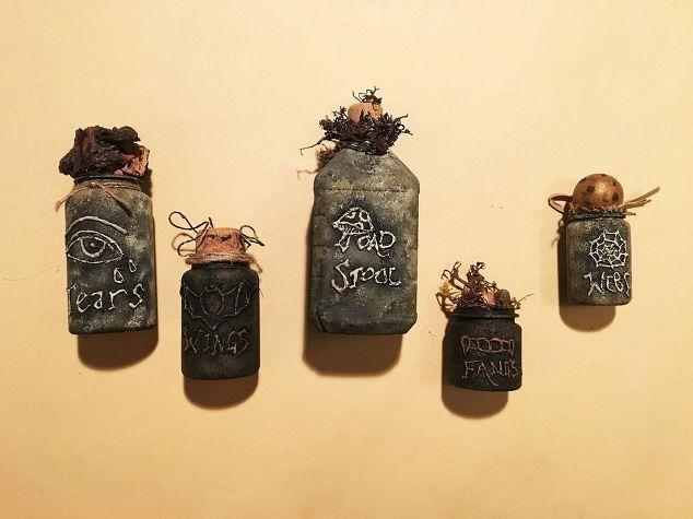 Хэллоуин ведьмы с аптечные бутылки, украшения Хэллоуин, сезонный декор праздник