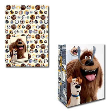 Fantastic NEW Official @PetsMovie Gift Wrap & Bag only £5 with Free UK P&P! Available now at http://bit.ly/SLOPWrapSet